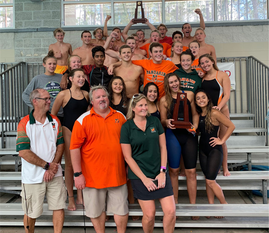 Boys Swim and Dive 4A District Champions
